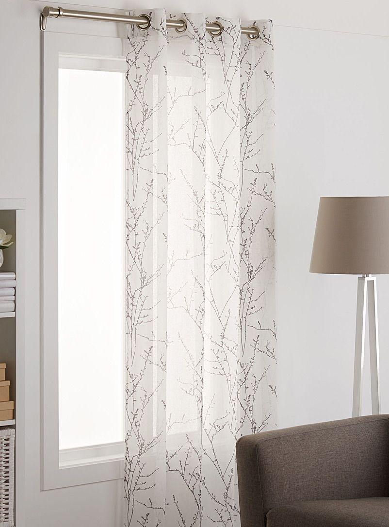 Le rideau voile branches d 39 automne 135x220 cm simons maison magasinez des rideaux en voile for Voile et rideaux