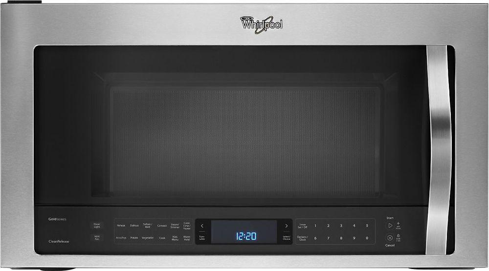 Whirlpool 1 9 Cu Ft Over The Range Microwave Stainless Steel