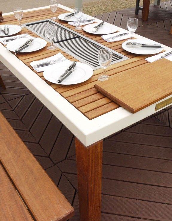 Tisch Mit Integriertem Grill Beste Wohndesign Und Interior Ideen