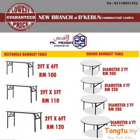 RECTANGLE TABLE SUPPLIER MALAYSIA Klang | Banquet tables ...