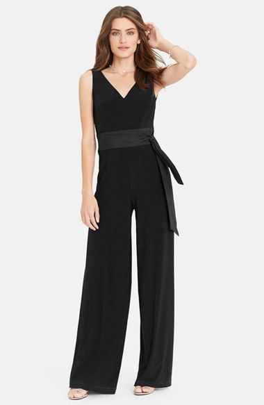 f00e69c0 Lauren Ralph Lauren Sleeveless Matte Jersey Jumpsuit available at #Nordstrom