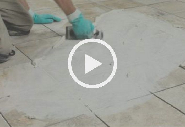 Remove spacers mix grout ceramic porcelain tile flooring - How to lay ceramic tile in bathroom ...