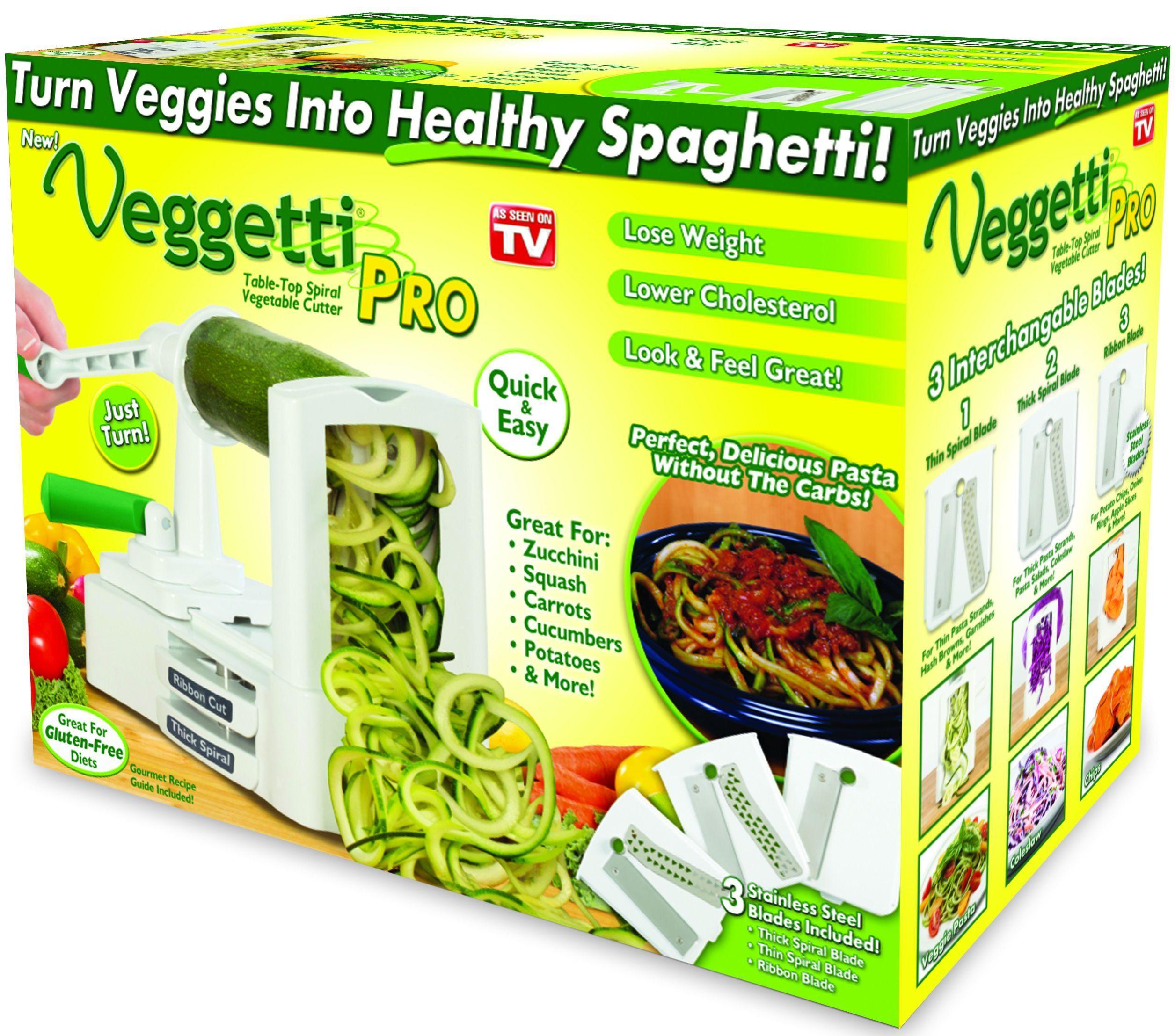 Veggetti Pro Table Top Spiralizer Quickly Spiral Slice