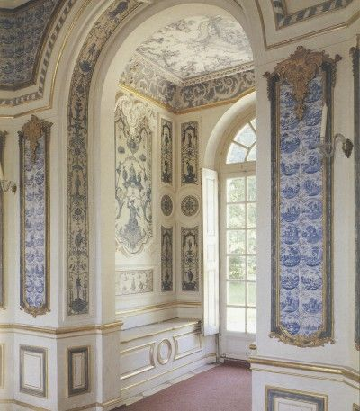 the extraordinary nymphenburg palace near munich built between 1716 and has an opulent display of ceramic tile on the walls fireplaces and staircases - Ceramic Tile Castle Decoration