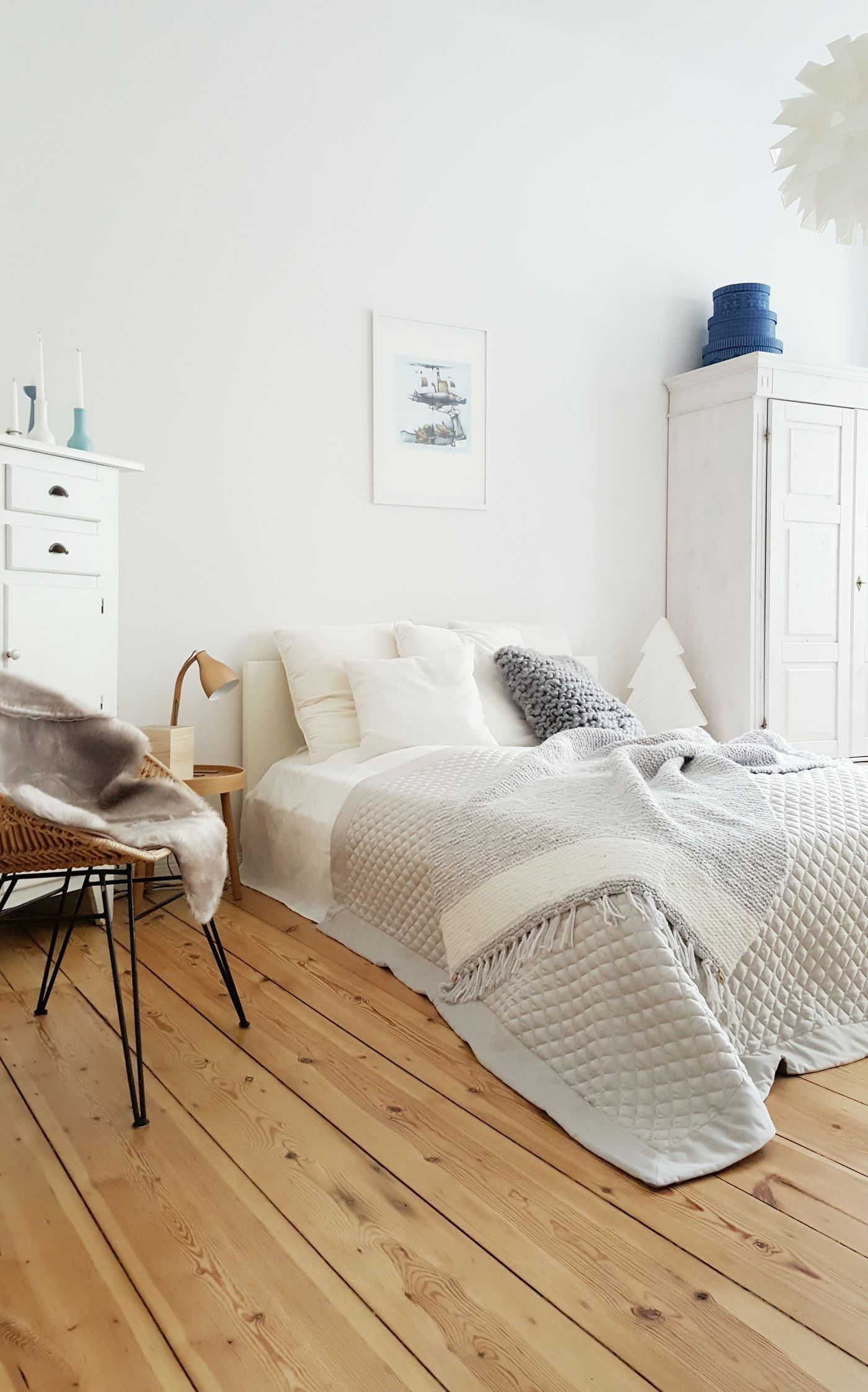 Skandinavische Schlafzimmer Schlafzimmer Grau
