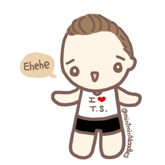 T.S.??? Stay tuned for more doodles from the T.S. series :) #TomHiddleston #mintmintdoodles