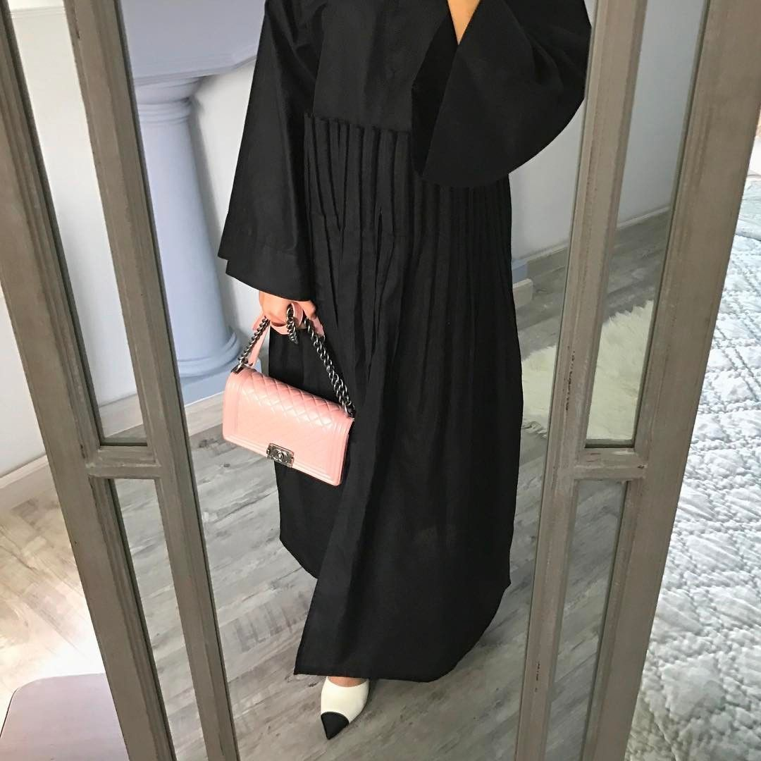 Black Abaya For Every Day As Seen On Mthayelalali Black Abaya Abaya Fashion Abaya