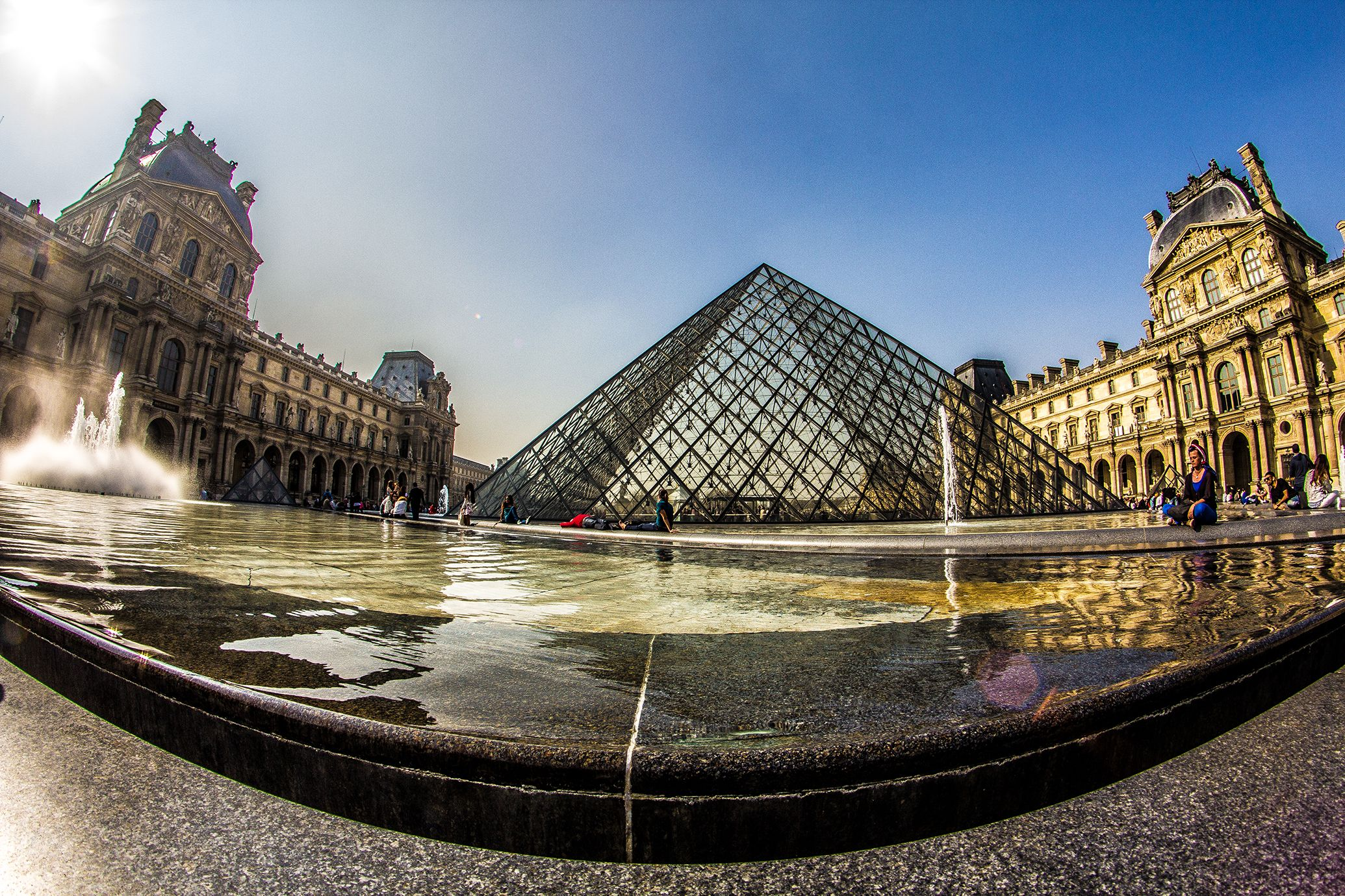 Louvre Paris Canon 60d Fisheye Lens Hdr Photography Fish Eye Lens Photography