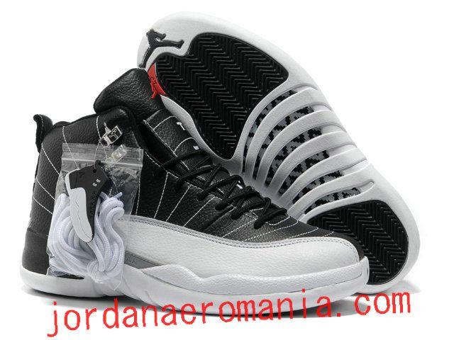 Acheter Chaussures Air Jordan 12 Playoff- Noir/Blanc  JordanAeroMania.com