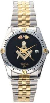 Men's Two Tone Black Hills Gold Masonic Watch  in Spring Big Book Pt 1 from Fingerhut on shop.CatalogSpree.com, my personal digital mall.