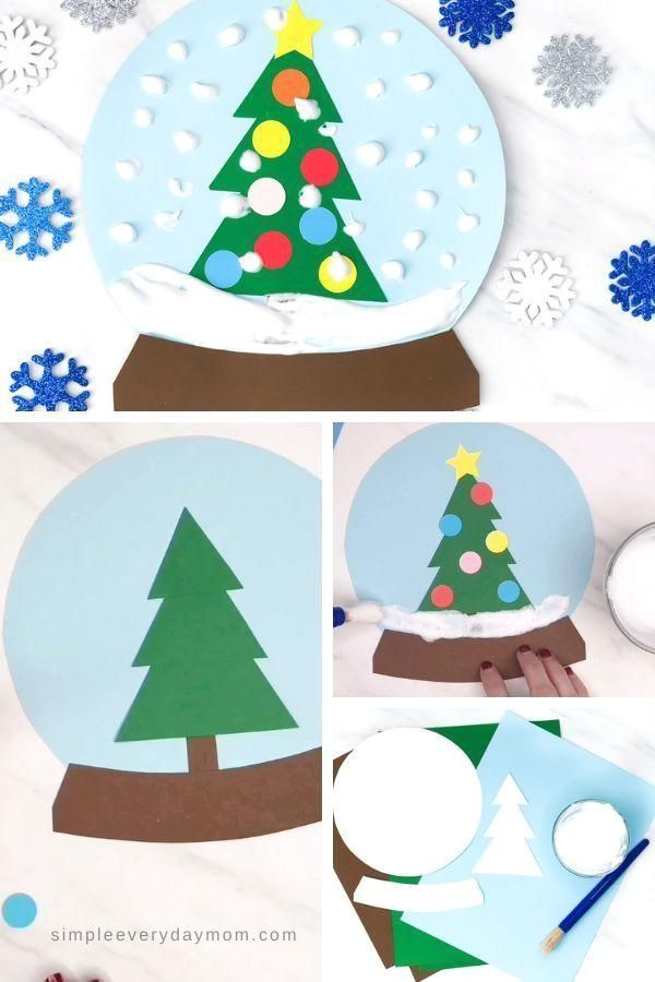 A Winter Themed Puffy Paint Snowglobe Craft For Kids : This puffy paint snow globe craft for kids is a fun and simple activity for kids to do this winter. Perfect for doing at home or at school.  #simpleeverydaymom #wintercrafts #kidscrafts #kidsandparenting #toddlers #preschoolers #kindergarten #elementary Bring the winter theme inside with this fun puffy paint snowglobe craft for kids. This simple winter craft is great for doing at home or in the classroom! #Winter #Themed #Puffy