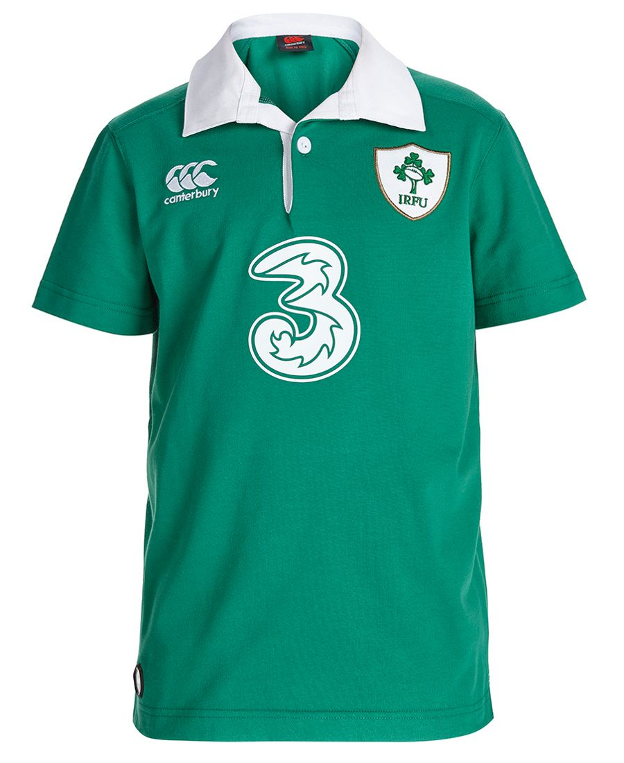 Ireland Kids Rugby Home Classic SS Shirt - 2015/16 | Sportbaby