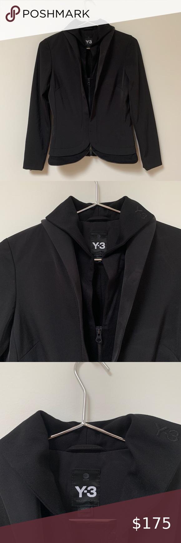 Y3 X Adidas Jacket Yohji Yamamoto Sporty Jacket Yohji Yamamoto Clothes Design
