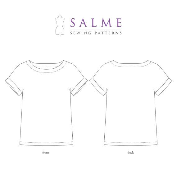 PDF Sewing pattern Kimono top por Salmepatterns en Etsy | patrones ...