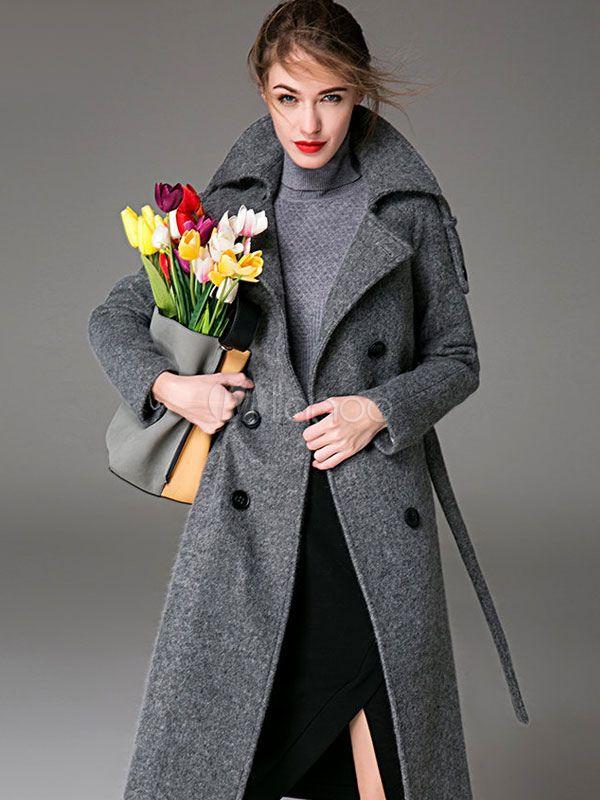 Beau manteau en laine femme