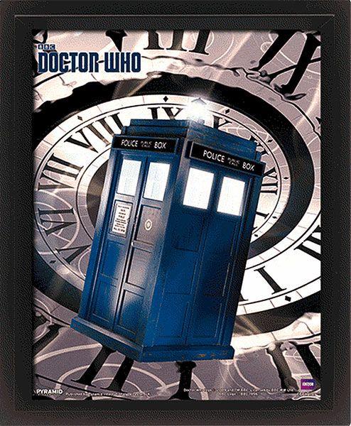 Póster efecto 3D enmarcado Cabina Tardis. Doctor Who | Cabina ...