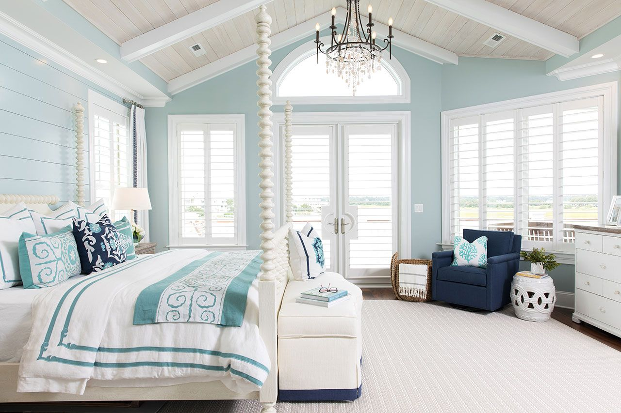 Lovely Sanctuary Interior Design Project Blue Bedroom Walls