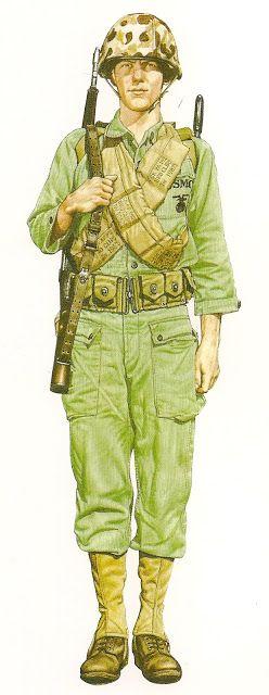 MINIATURAS MILITARES POR ALFONS CÀNOVAS: Uniformes Militares de U.S.A. & Canada, (1950-1995),por CHRIS McNAB ,fuente = Blblioteca Militar de BARCELONA..