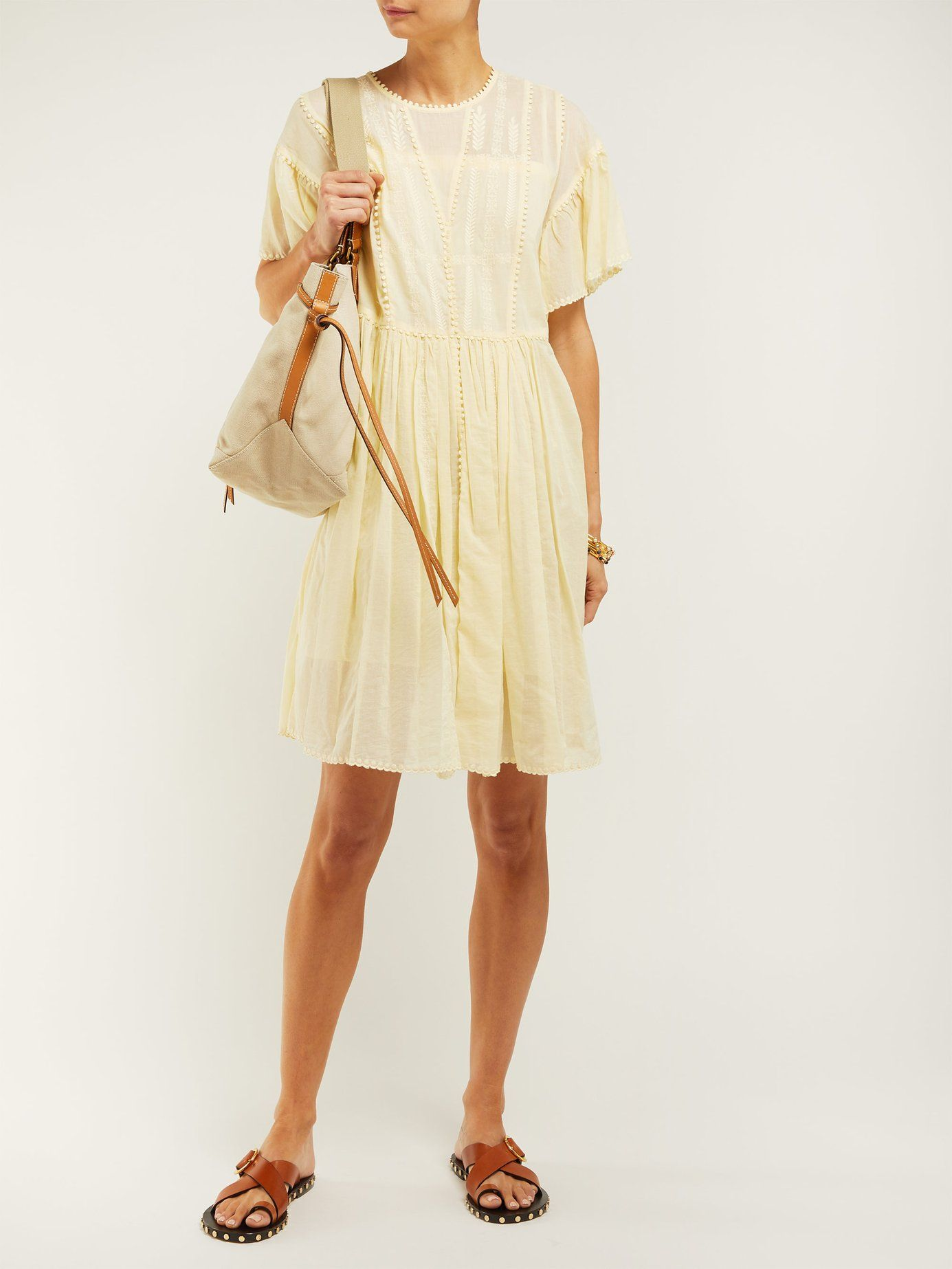 fd6fb39ed2 Annaelle embroidered cotton mini dress | Isabel Marant Étoile |  MATCHESFASHION.COM US