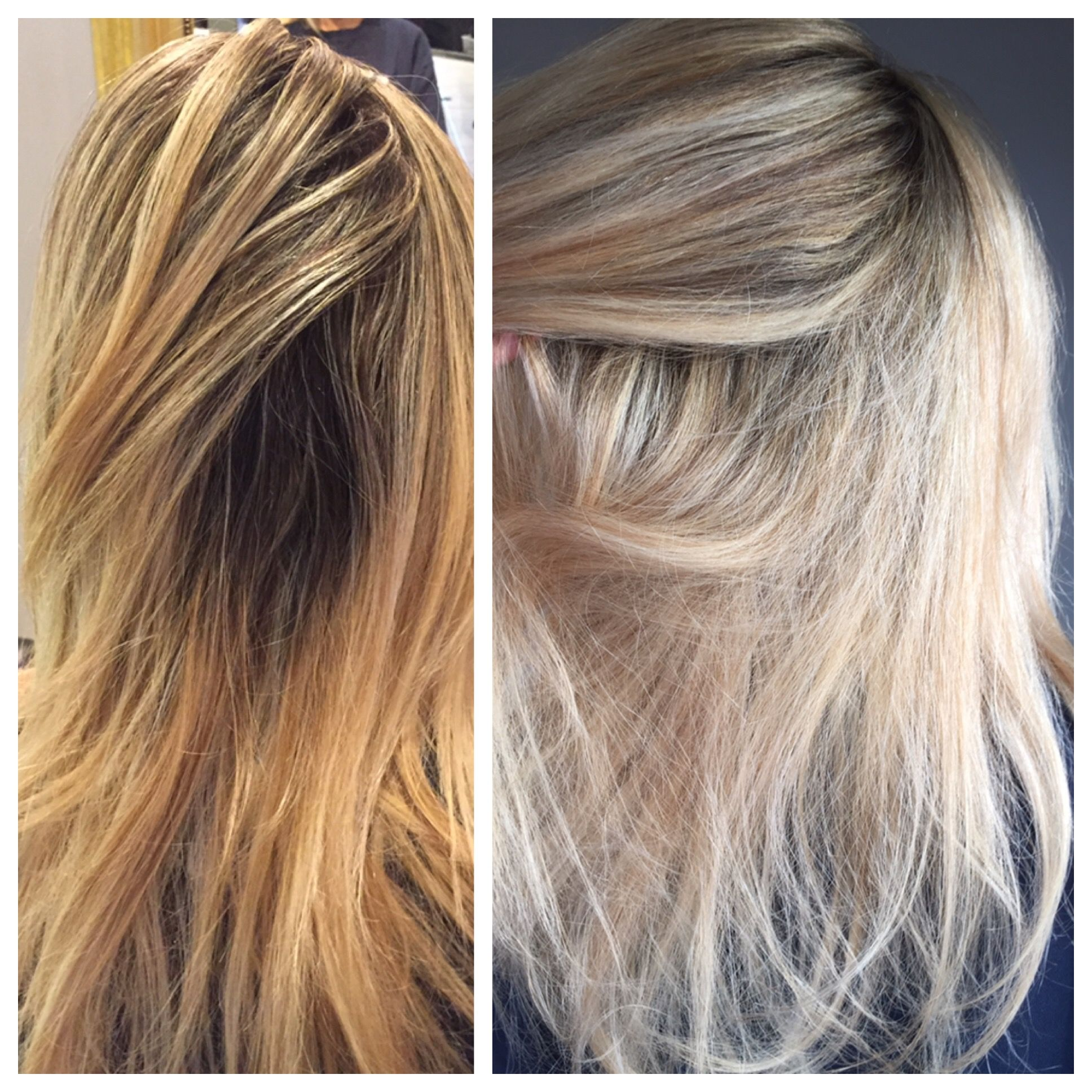 Before And After Blonde Hair Brighter Hilights Cooler Hilights