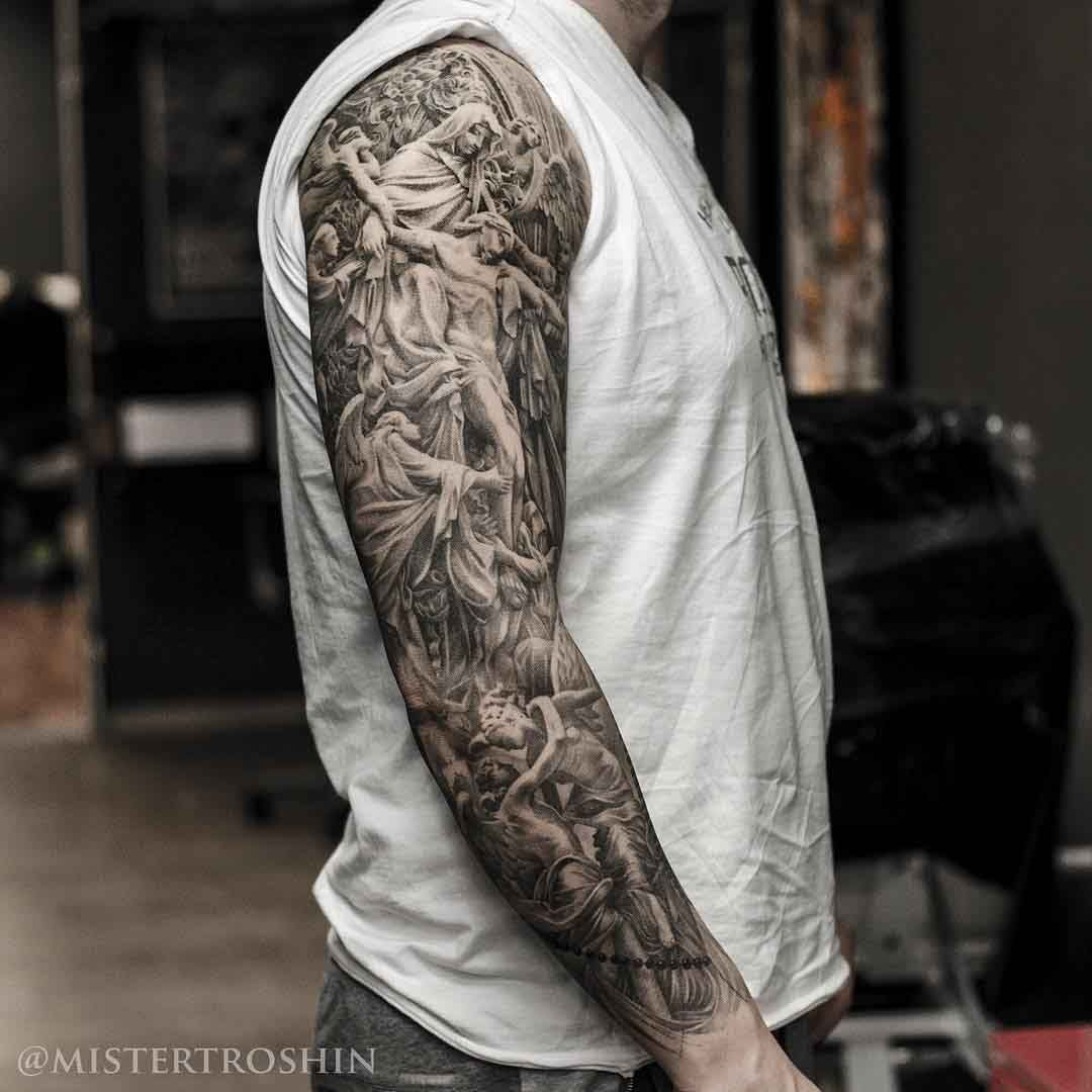 Religious Sleeve Tattoo -   24 religious tattoo sleeve