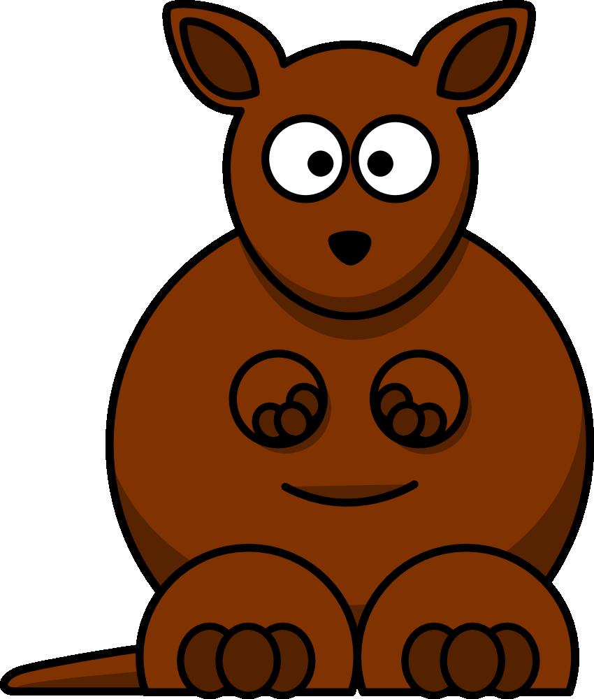 cute cartoon kangaroo clip art 100 free from onlinelabels com com rh pinterest com free clip art 100 years free clipart 100 dollar bill