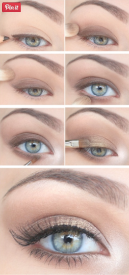 Eye makeup for blue eyes over 60