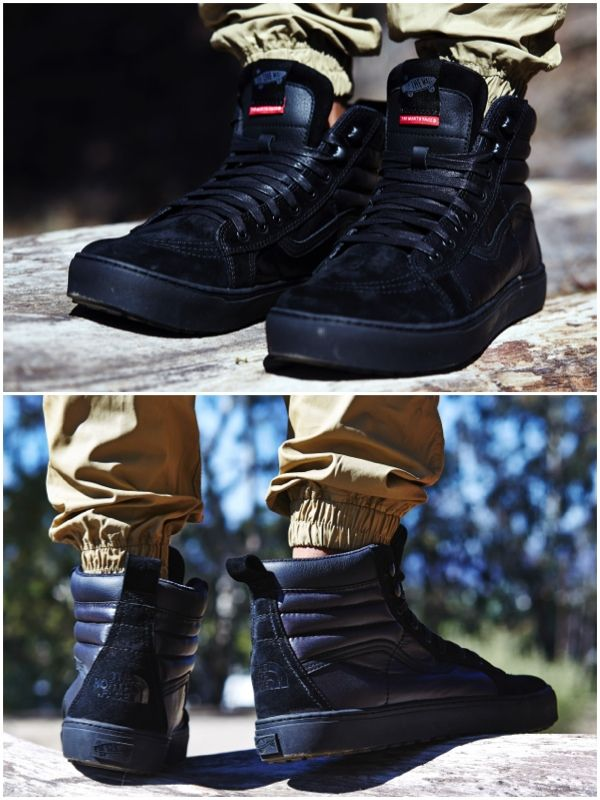 ON-FOOT LOOK    THE NORTH FACE X VANS SK8-HI MTE LX  afe7194019b3