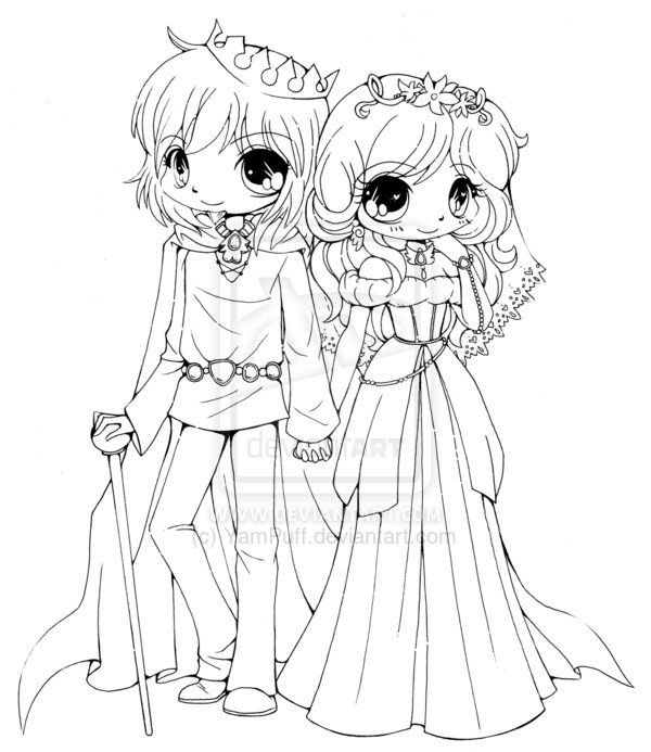 Couple Commission - Lineart by YamPuff on DeviantArt ...