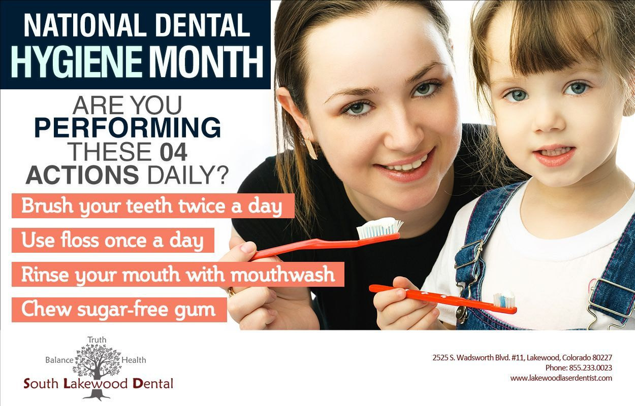 October is #DentalHygieneMonth. It is a good time to adopt healthier habits.
