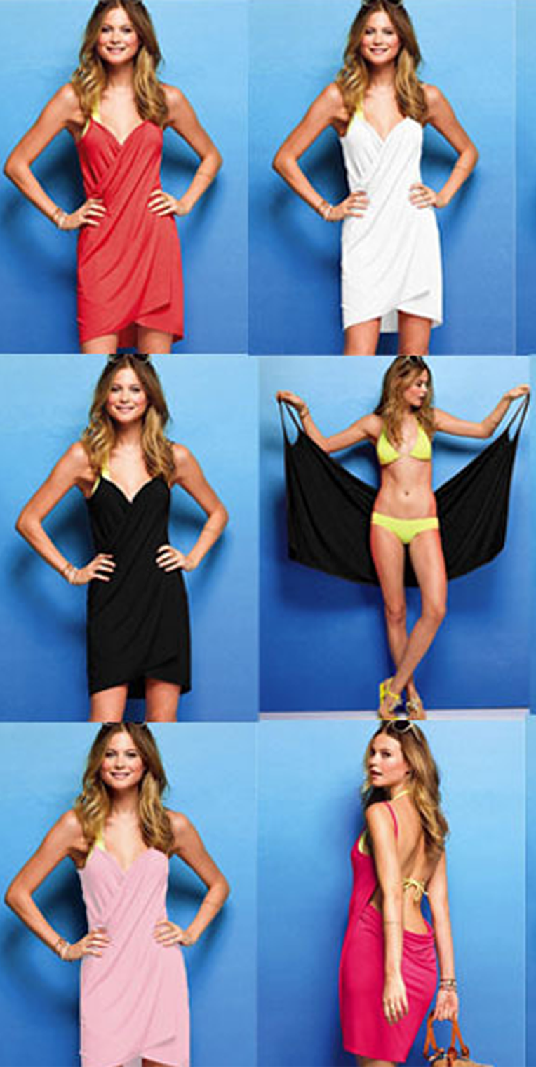 65132fd5ac This Bikini Wrap Dress is great for covering up at the beach or at home.