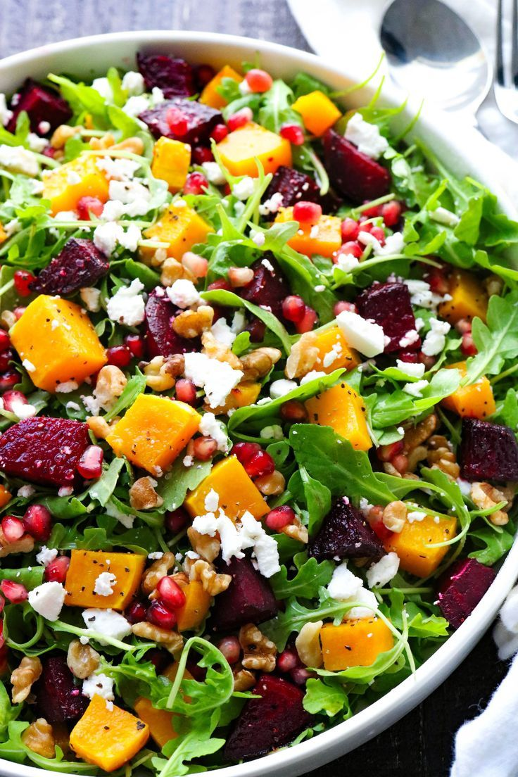 Simple Roasted Beets and Butternut Squash Salad |