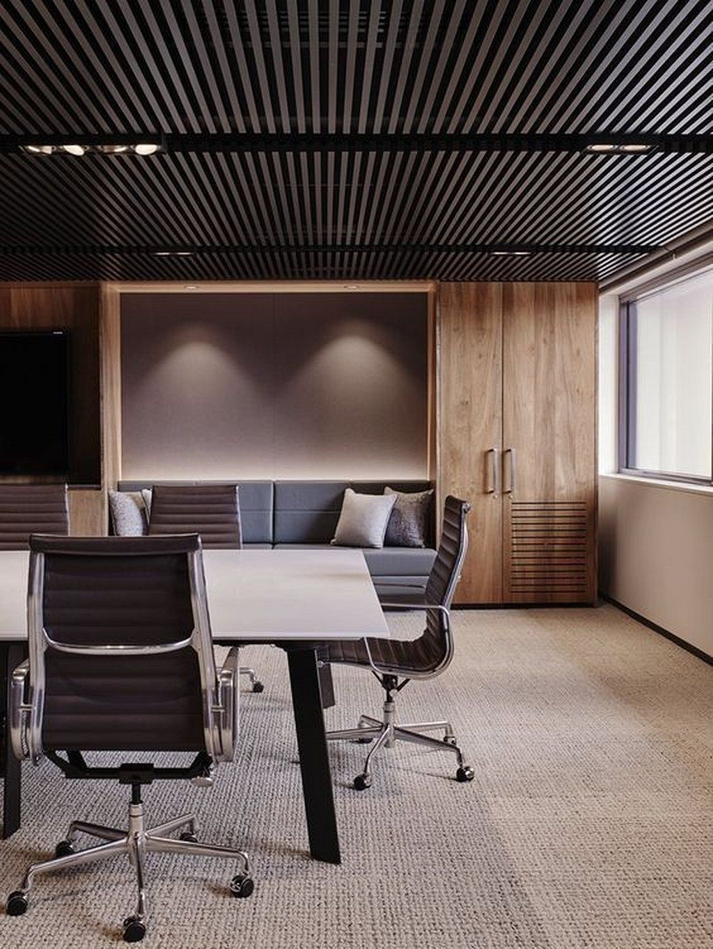 Interior design for office ceiling corporate modern decor also best executive rh pinterest
