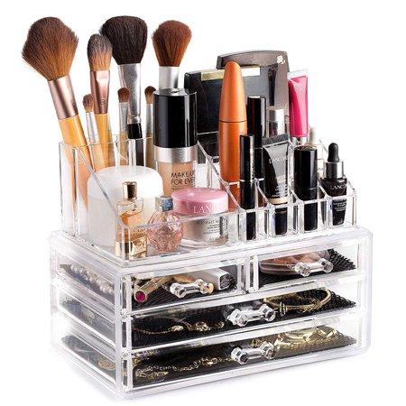 Svebake Makeup Organizer Acrylic Vanity Makeup Cosmetic Organizer