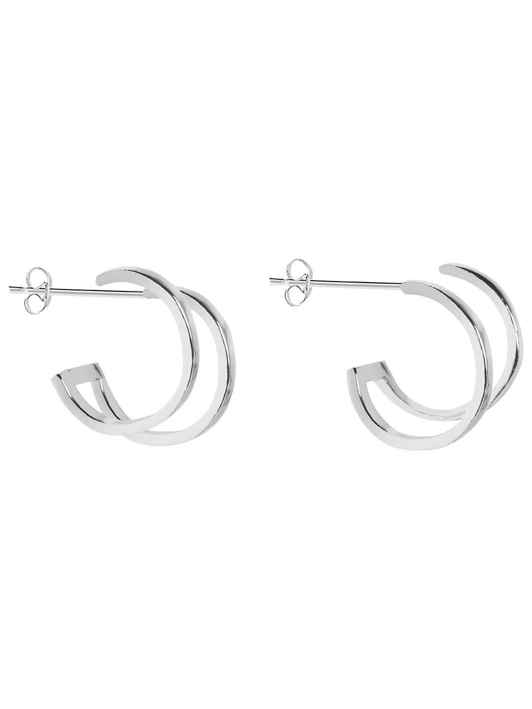 0be673eceddc BuyJoma Cassie Double Circle Hoop Earrings, Silver Online at johnlewis.com