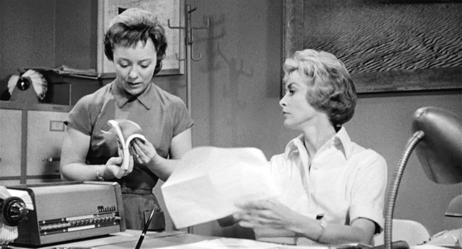 In the movie Psycho, Director Alfred's daughter - Patricia had a small role as Marion's co-worker, Caroline.