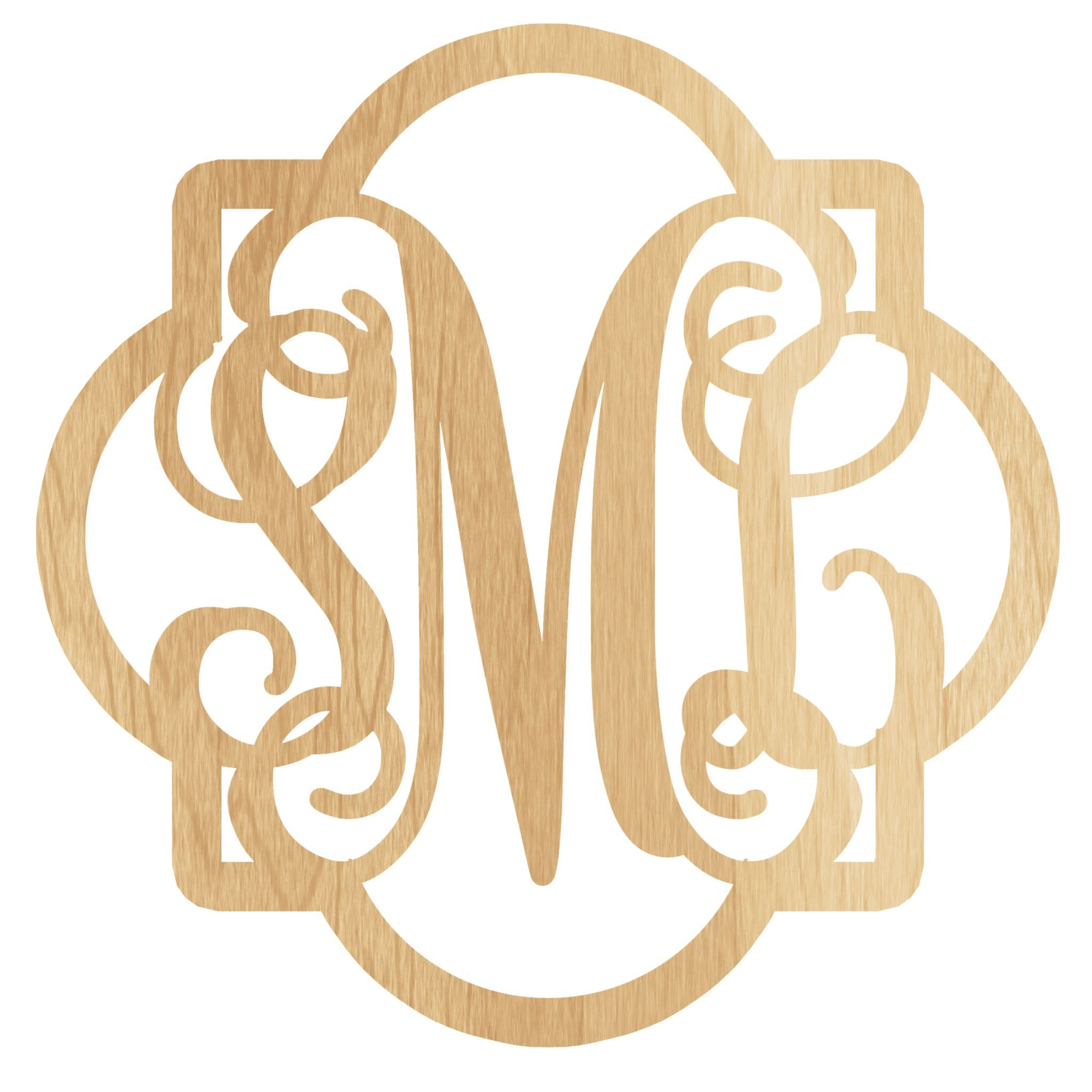 United Monogram\'s Wooden Monograms Come in Many Different Sizes ...