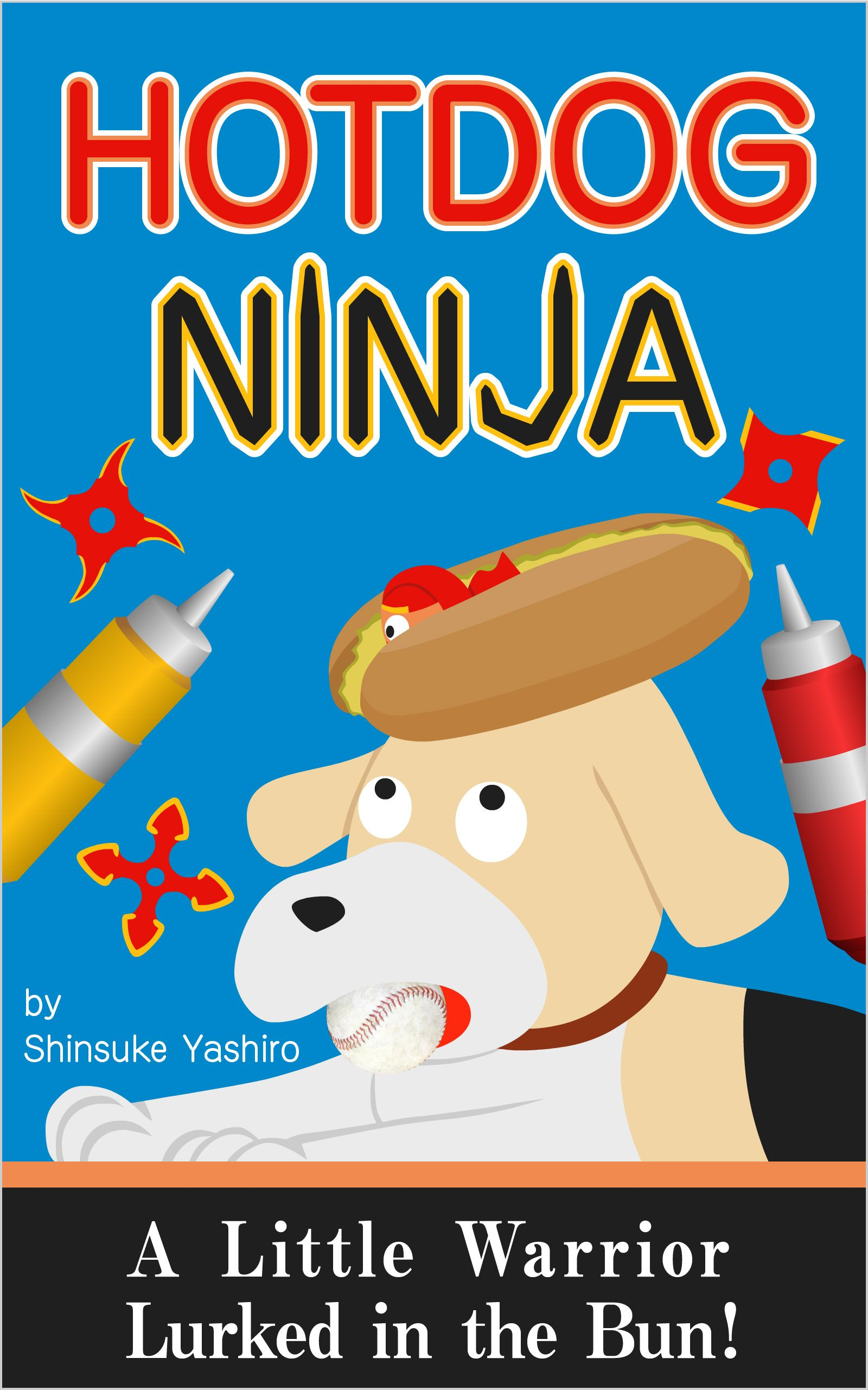 """Hotdog Ninja""  A little warrior lurked in the bun!"