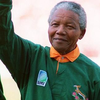 Nelson Mandela Rugby World Cup 1995 South Africa Springboks Www Southafricantvads Com Nelson Mandela Mandela South African Rugby