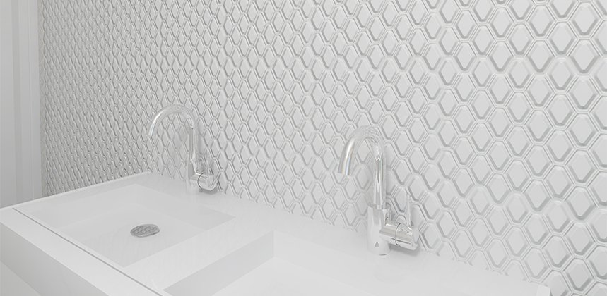 Athens Glossy White 3d Diamond Porcelain Mosaic In 2020 Porcelain Mosaic Mosaic Olympia Tile