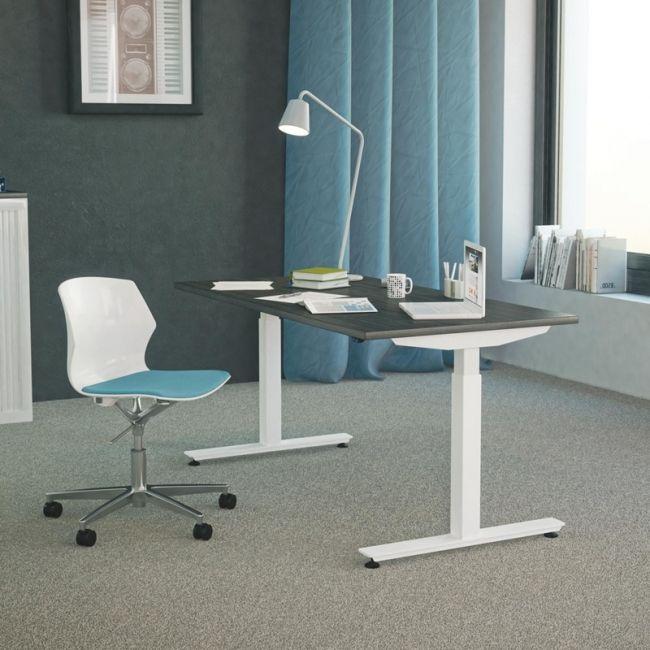 Bureau Assis Debout Flex Up Bureau Electrique Reglable En Hauteur De 65 Cm A 130 Cm Bmbureau Furniture Mobilier Bureau Mobilier Bureau Mobilier Cloison