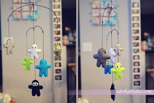 Diy Hanging Mobile Frame Bent Floral Wire Adorkableduo
