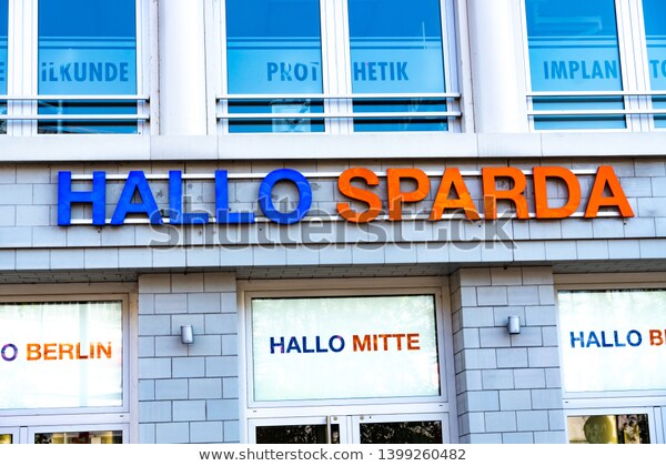 Berlin Germany April 19 2019 Hallo Sparda Bank Branch Sparda Bank Berlin Is One Of The Largest Cooperative Banks In Ger Alemania Europa Occidental Berlin