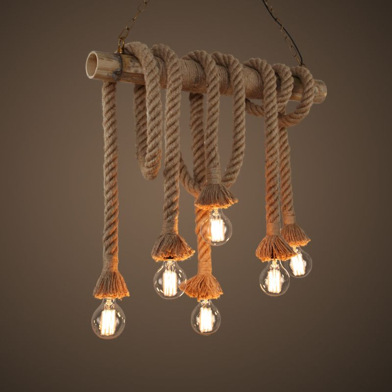 Popular manila rope buy cheap manila rope lots from china manila buy vintage style single heads rope pendant lights for restaurant bedroom dining room size at wish shopping made fun aloadofball Images