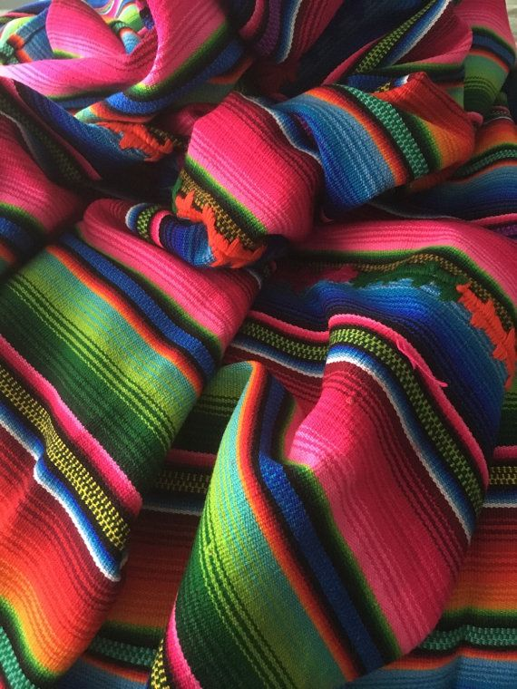 Vintage mexican aztec blanket sarape by IslandChickDesigns on Etsy ...