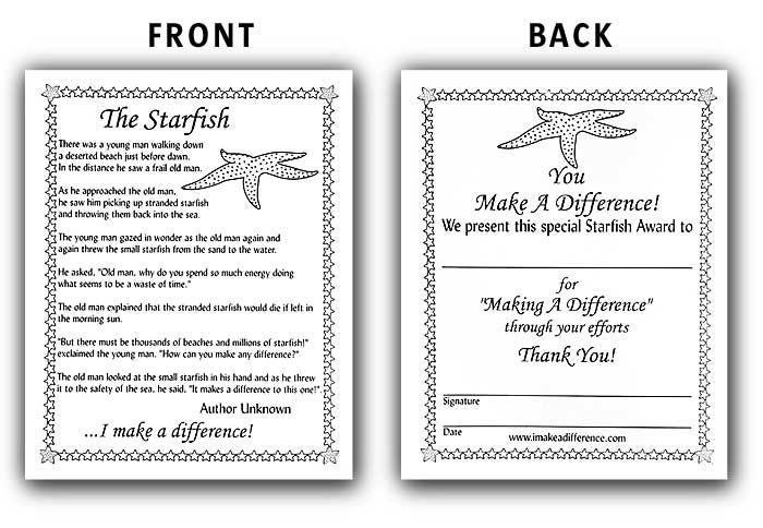 starfish story for teachers - Google Search