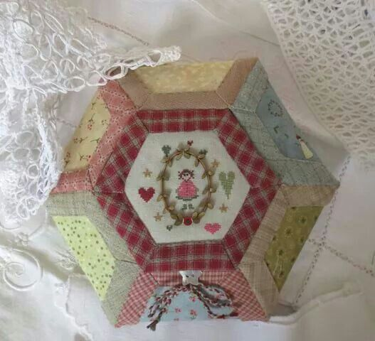 Cute hexagon sewing box