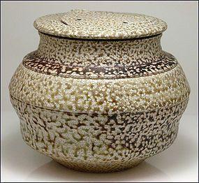 Karen Karnes Salt Glaze Wood Fired Pottery Lidded Jar Clay Pottery Pottery Clay Ceramics