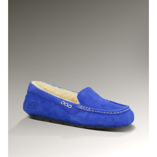 b6001f7fd78 UGG Ansley Women's Sapphire Blue Slippers ($100) ❤ liked on ...