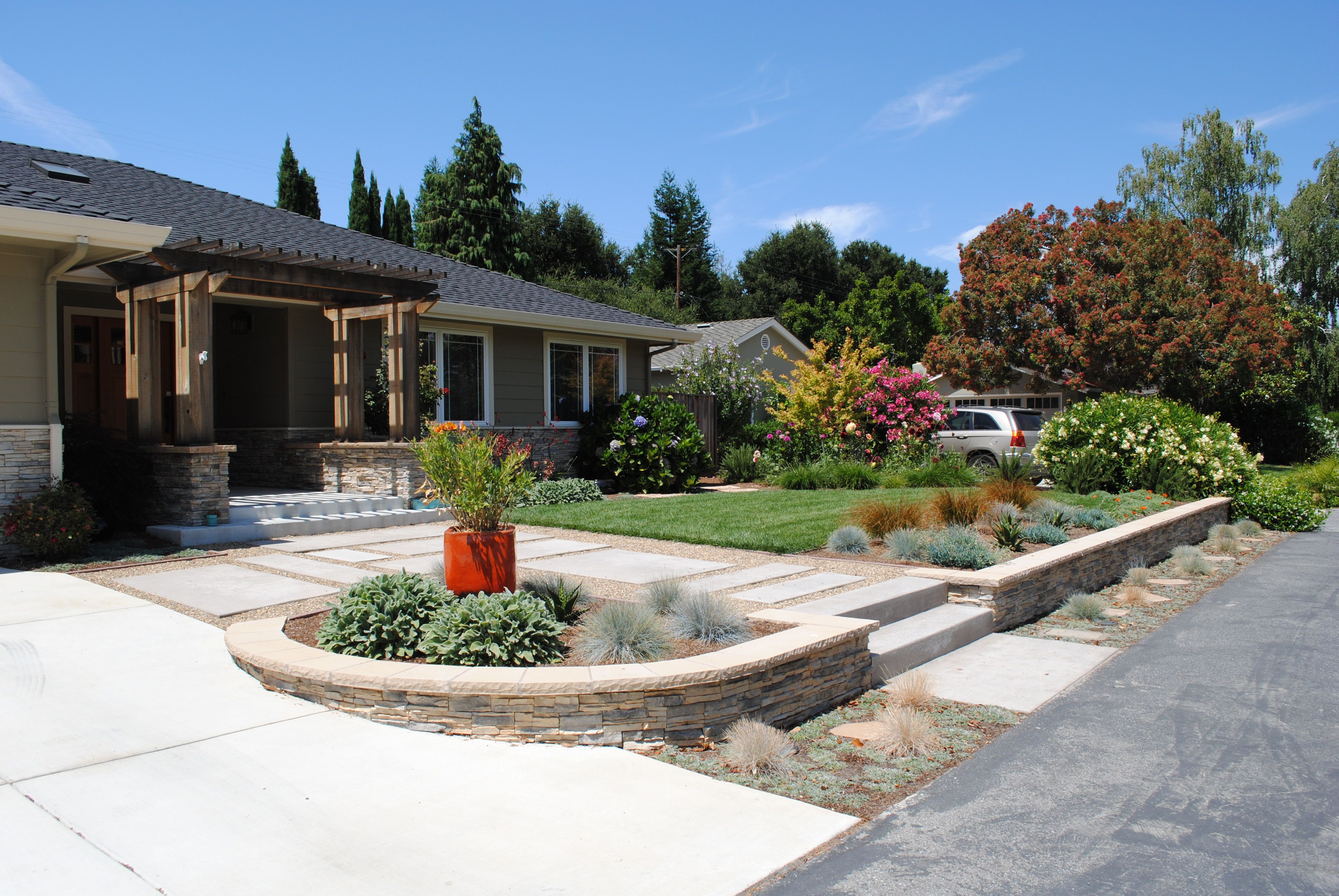 front yard modern landscaping ideas
